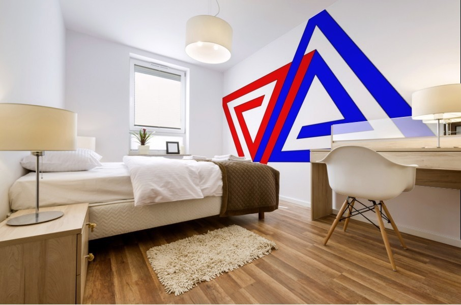 Halimessa - connected triangles Mural print