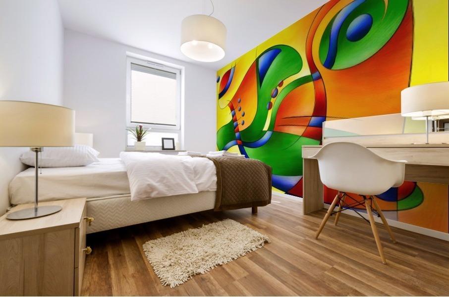 Antaressa - colourful world Mural print