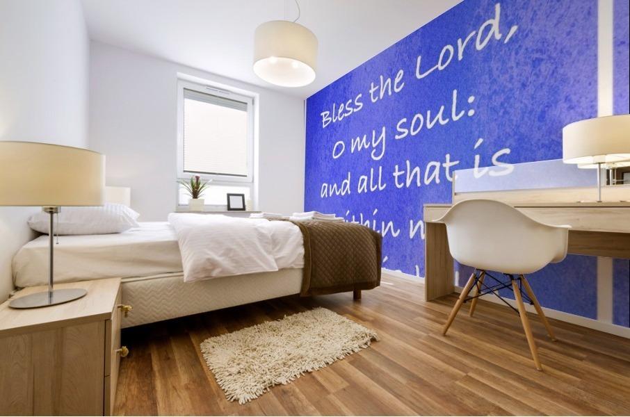 Psalm 103 1 8BL Mural print
