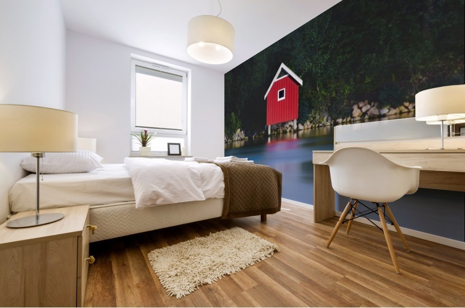 The red house Mural print