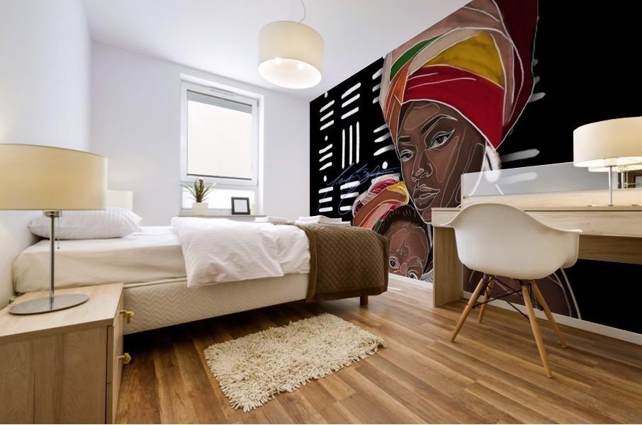 African Motherhood Mural print