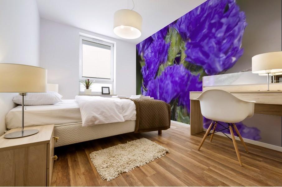 Purple Statice Flower Mural print