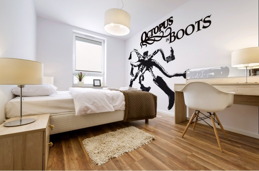 Octopus in Boots Mural print