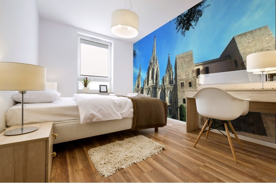 Amazing Barcelona Cathedral Mural print