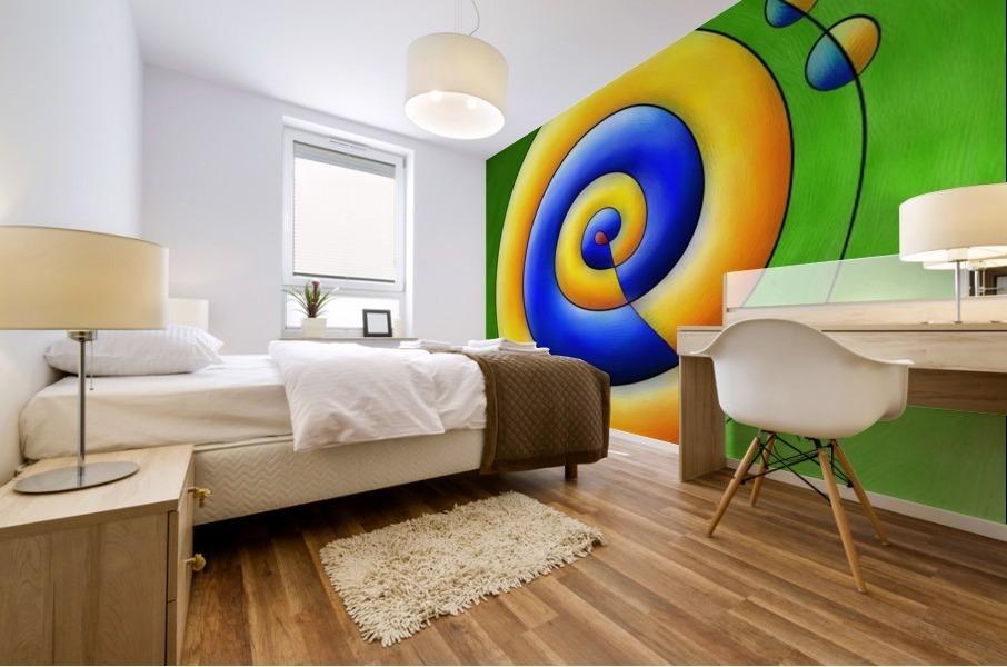 Neosmirana - running space snail Mural print