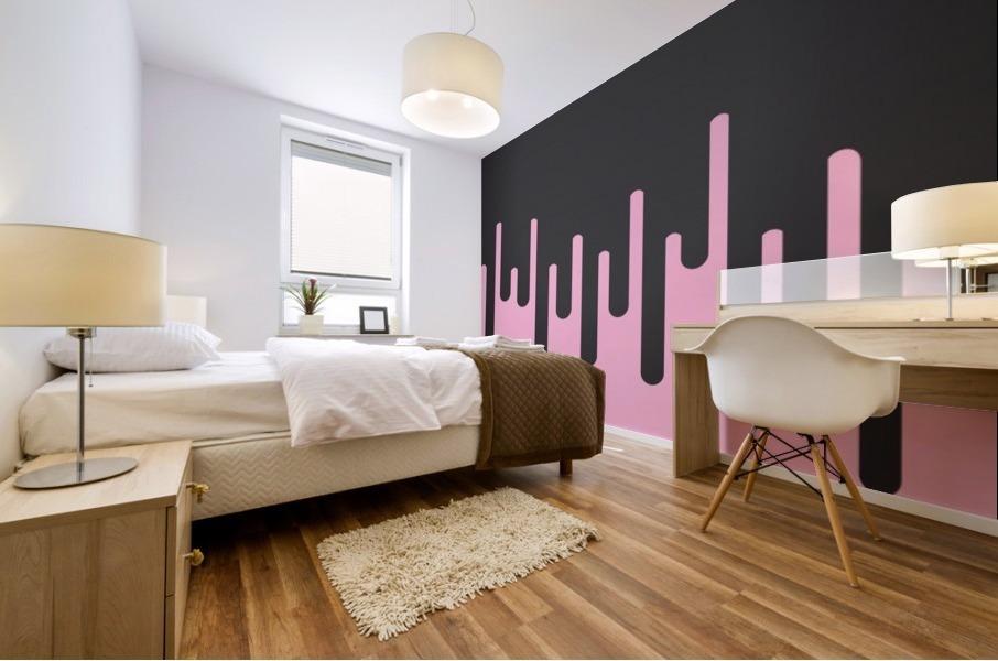Donut Melting Tone Mural print