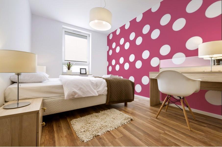 CRANBERRY Polka Dots Mural print