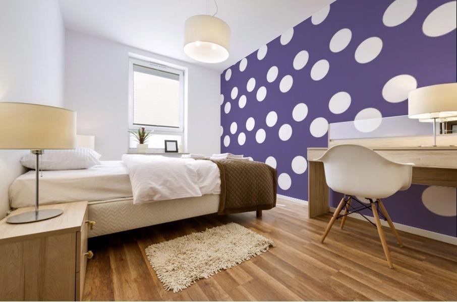 Ultra Violet Polka Dots Mural print