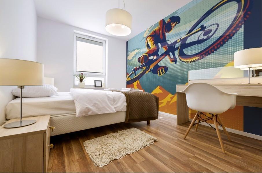 my air miles mountain bike poster Mural print