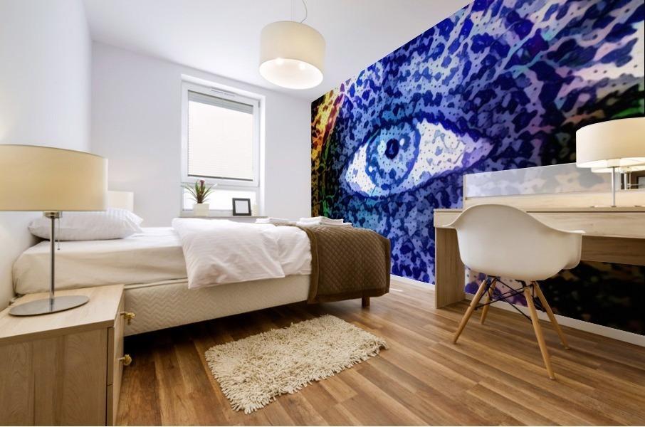 Beautiful Eye Design Mural print