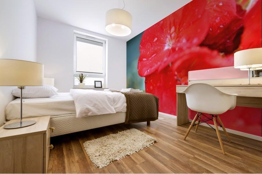 Elegantly Red Mural print