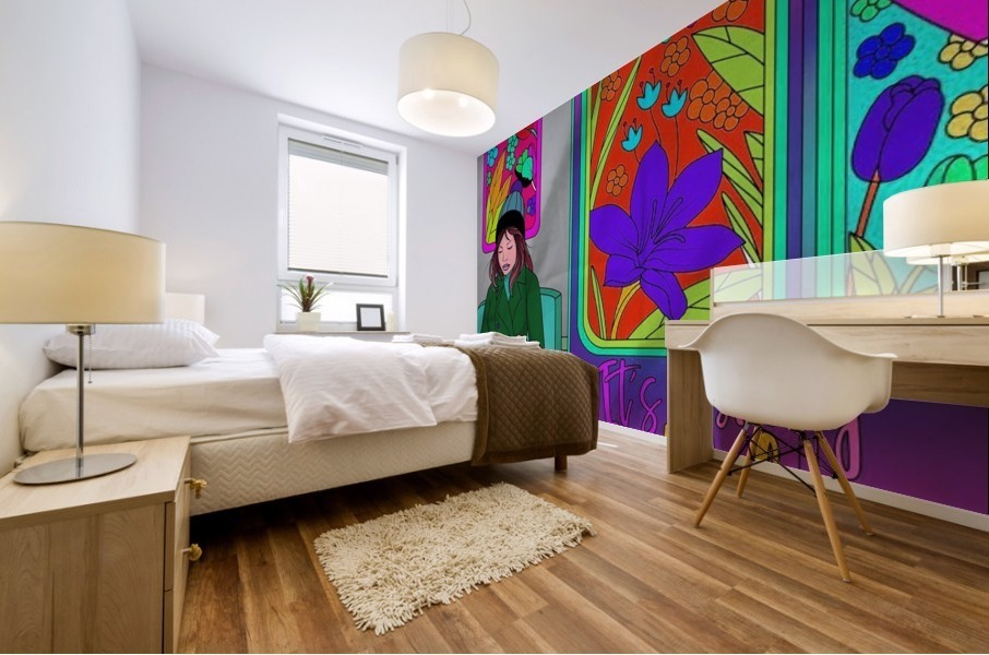 color therapy med Mural print