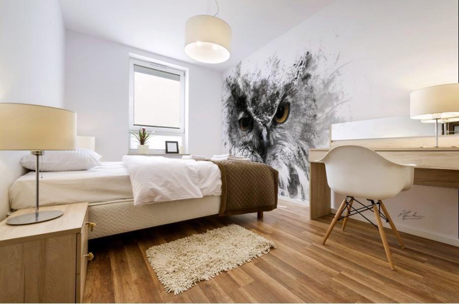European Eagle Owl 01 Mural print