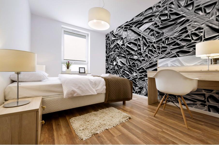 Natural Geometry Black And White Mural print