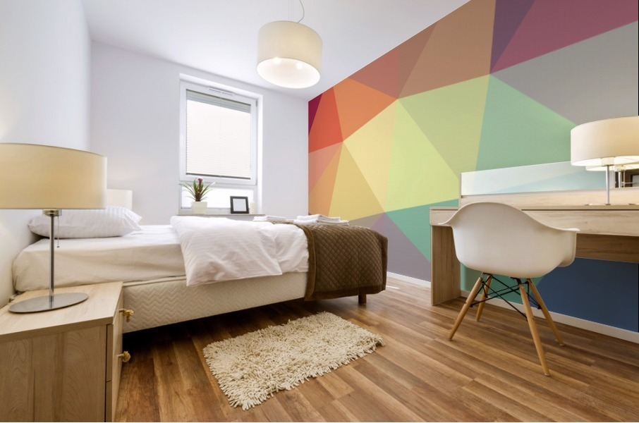 patterns polygon 3D (49) Mural print
