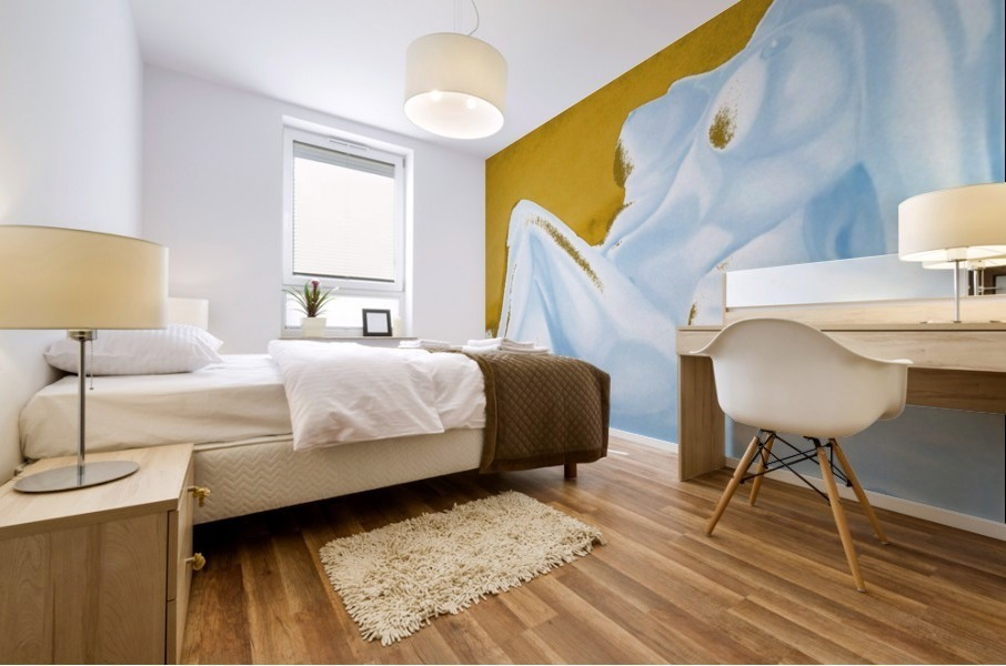Ecstasy In Gold And Ice Mural print