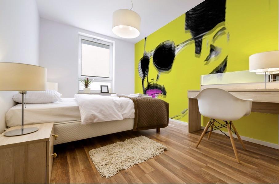 Yellow Freddie Mercury Mural print