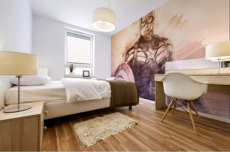Captain America Mural print