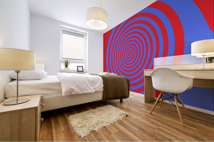 This is a beautiful design with great color, shape, line, texture, space and value.  (21) Mural print
