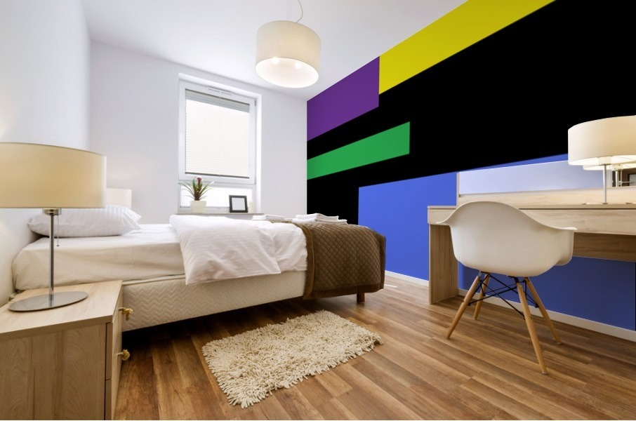 This is a beautiful design with great color, shape, line, texture, space and value.  (35) Mural print