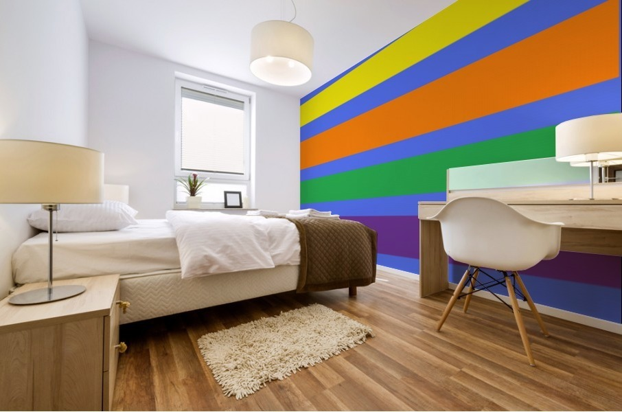 This is a beautiful design with great color, shape, line, texture, space and value.  (30) Impression murale