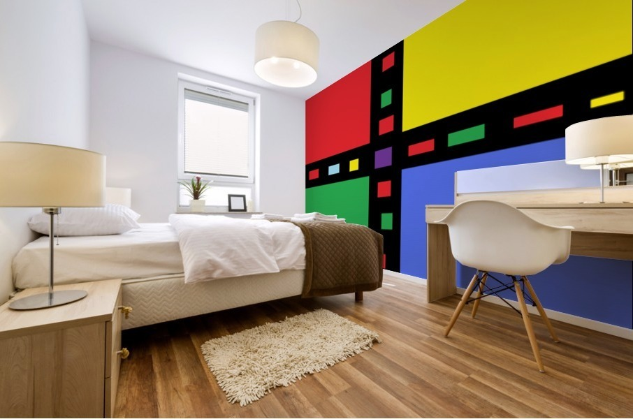 This is a beautiful design with great color, shape, line, texture, space and value.  (40) Mural print