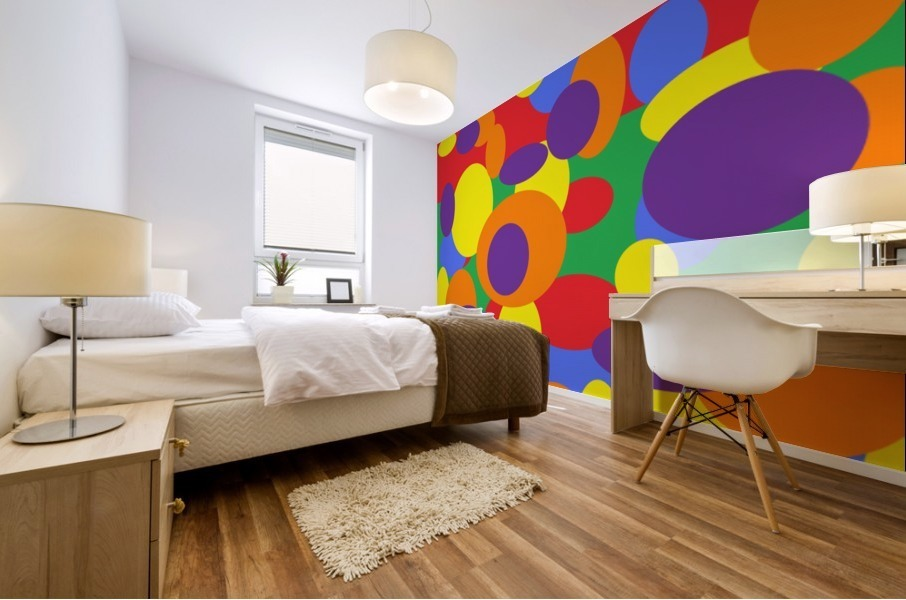 This is a beautiful design with great color, shape, line, texture, space and value.  (11) Mural print