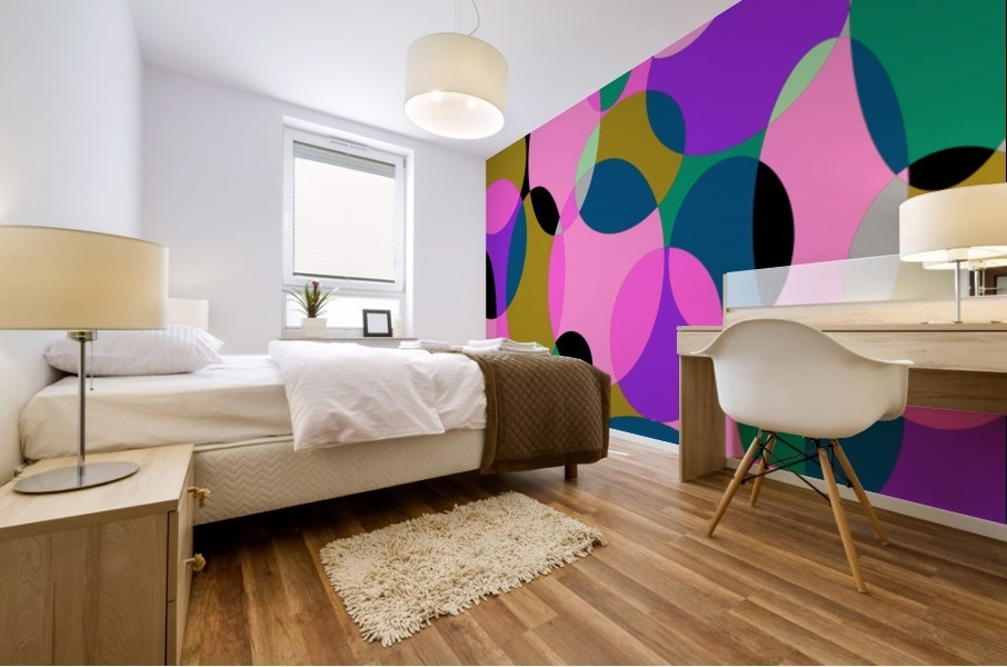 This is a beautiful design with great color, shape, line, texture, space and value.  (50) Mural print