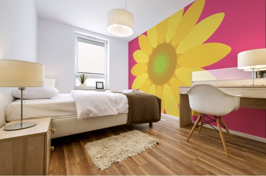 Sunflower (10)_1559876729.1568 Mural print