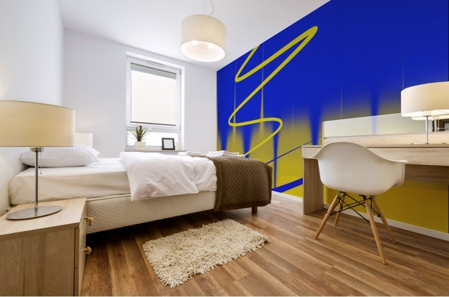 interaction of colors Mural print
