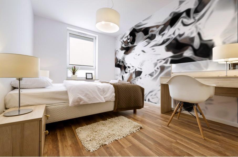 Brown Sugar & Coffee - brown grey white black swirls large abstract wall art Mural print
