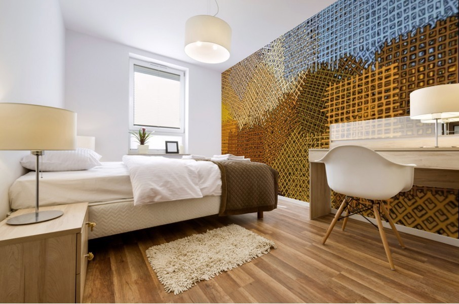 color colors abstract yellow brown Mural print