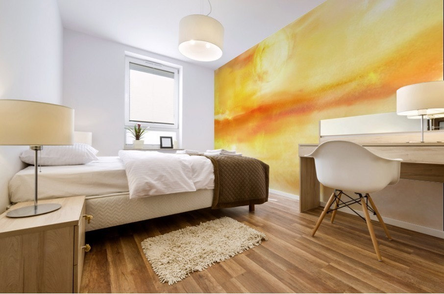 Abstract Warm Sunset I Mural print