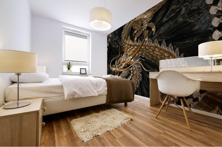 fantasy Dragon Pentagram Mural print