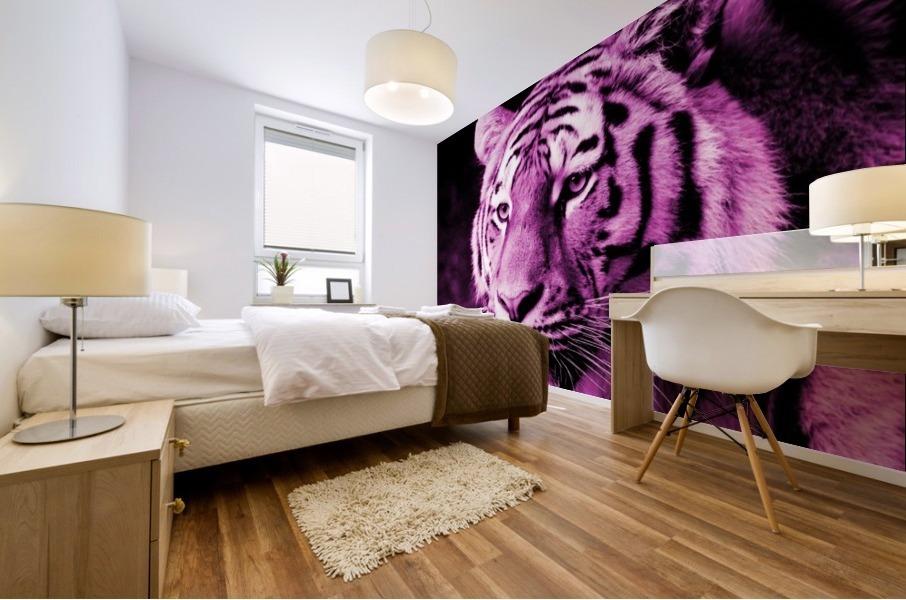 Tiger pop pink Mural print