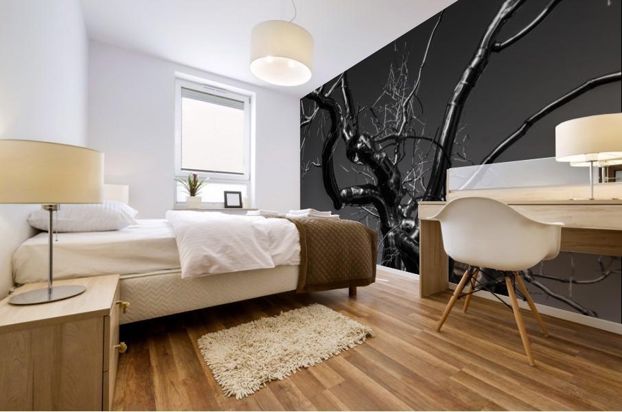 Metal tree Mural print