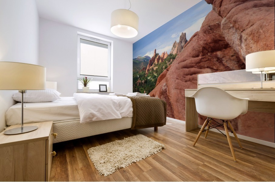 Beautiful Red Rock structures in the Desert Mural print