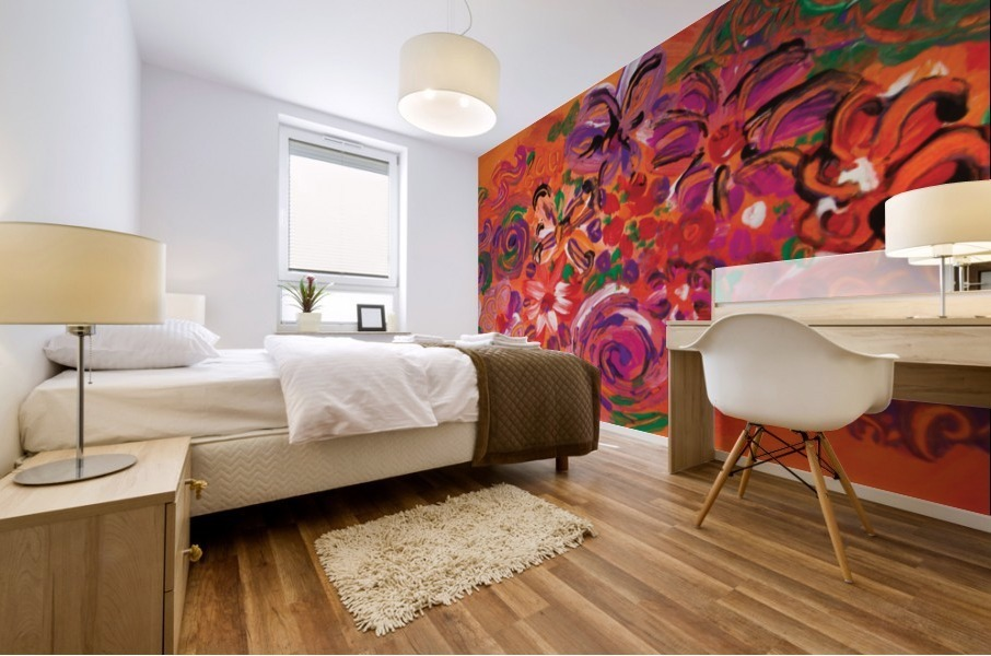 abstract colorful garden Mural print