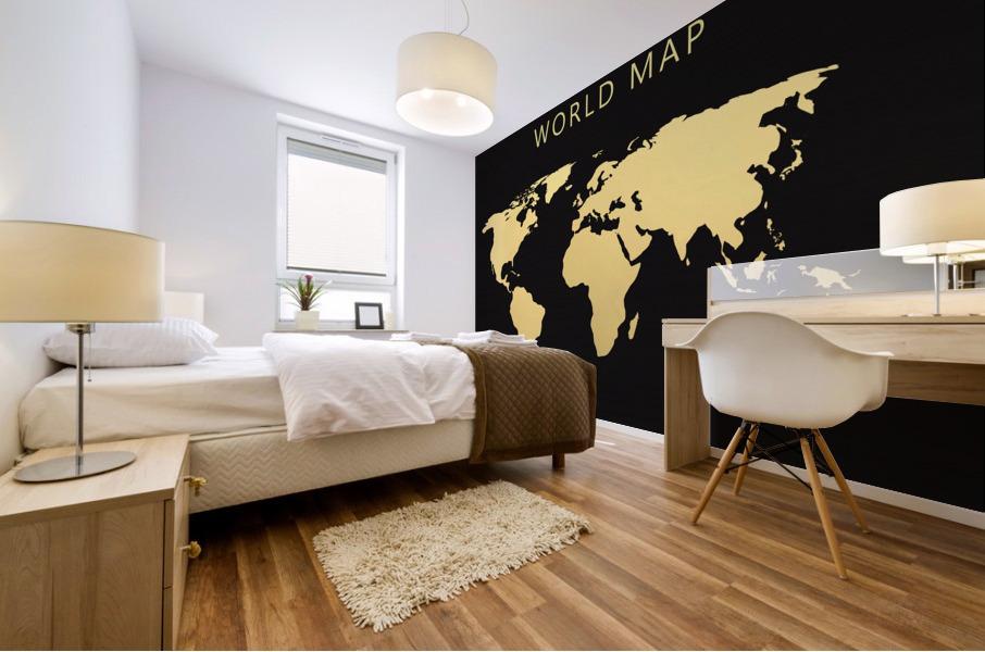 map world 2 Mural print
