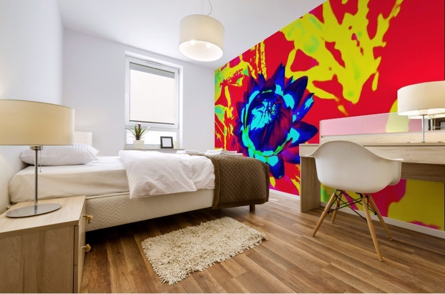 Graphic Flower Effect 2 Mural print