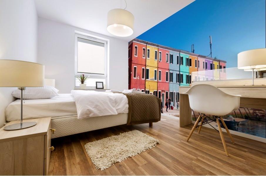 Colorful Venice Houses Mural print