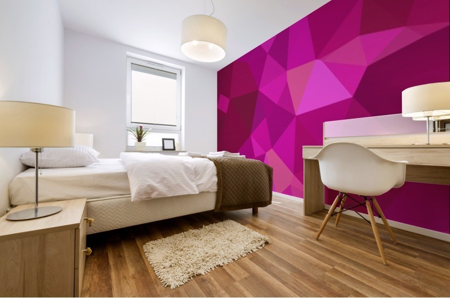 abstract geometric triangular art Mural print