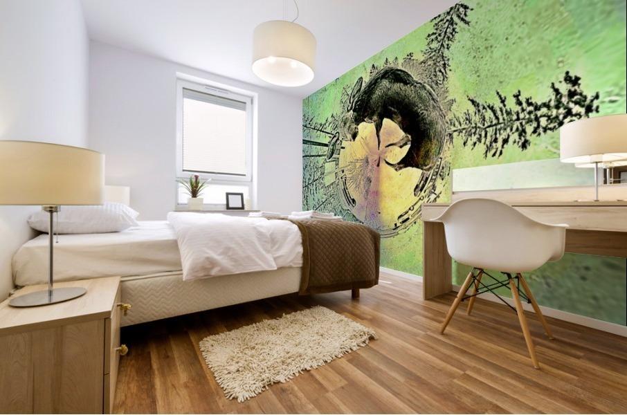 abstract baby moose  Mural print