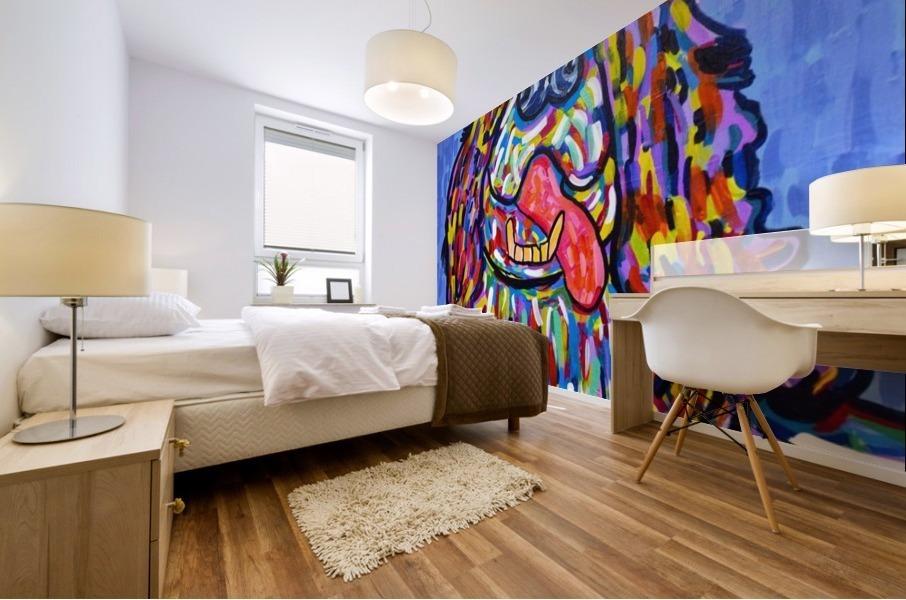 Colorful Smile Mural print