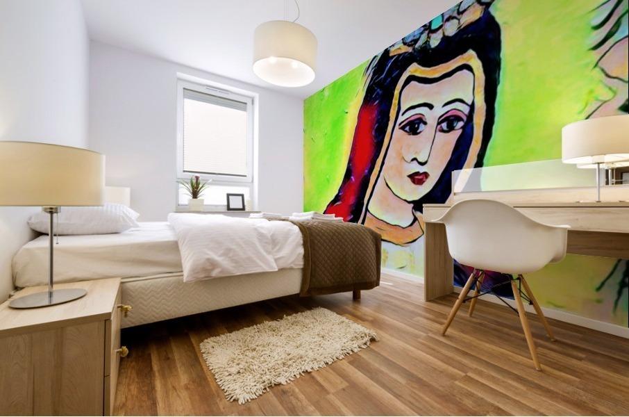 saint abstract Mural print