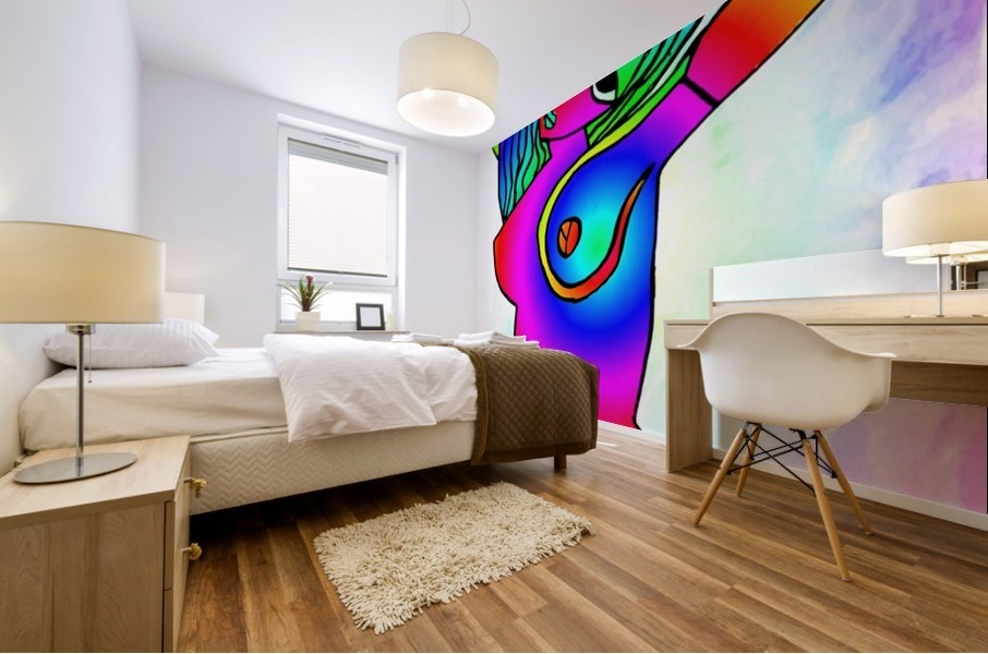 el camino rainbow Mural print