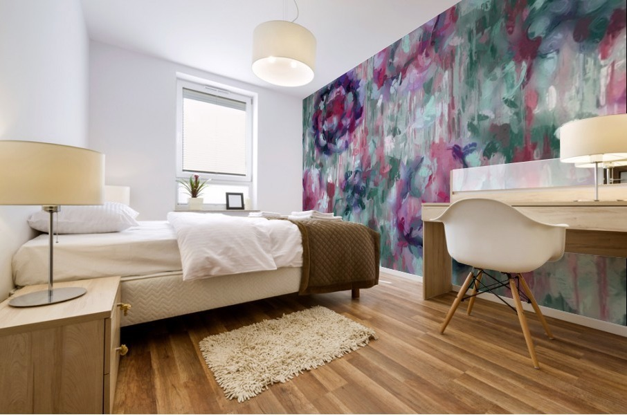 Multicolor Abstract Floral  Mural print