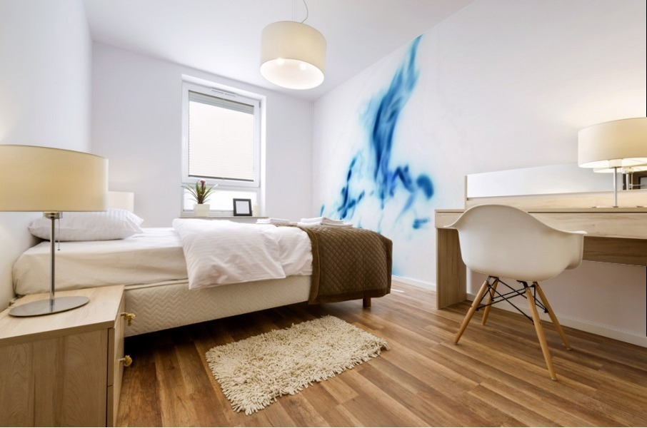 Blue Abstract Mural print