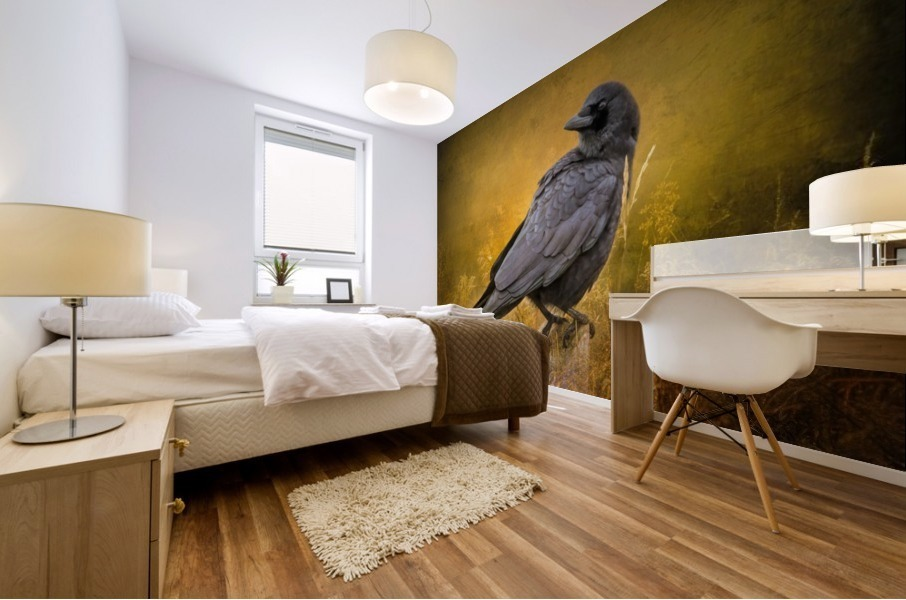Black Crow Mural print