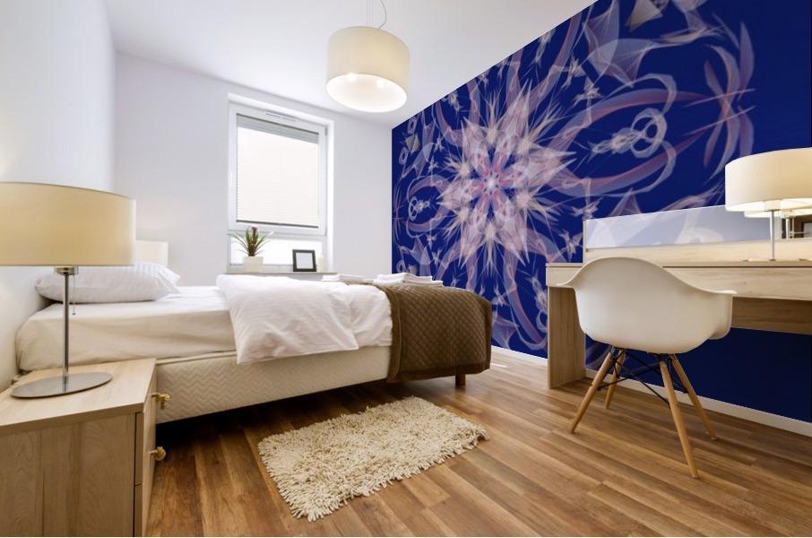 Limited Edition - Blue Graphic Art Healing Mandala 1005 Mural print